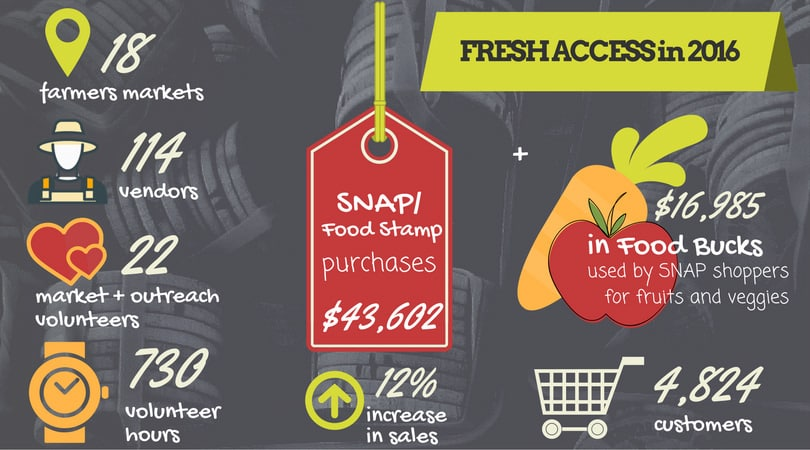 Fresh Access in 2016 infographic