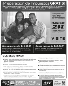 Just Harvest's South Side tax site now offers free tax preparation en espanol!