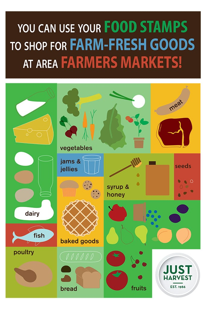 you can use your food stamps to shop for farm-fresh goods at area farmers markets