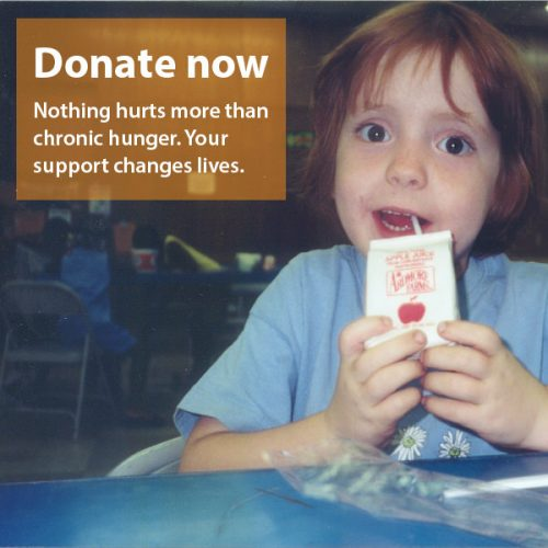 Donate now. Nothing hurts more than chronic hunger. Your support changes lives.