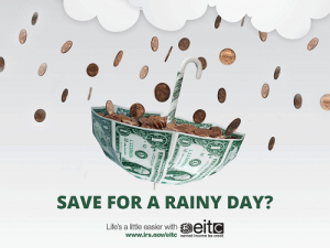 save for a rainy day EITC
