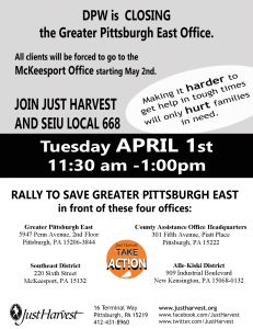 Rally And Twitterstorm To Save The Dpw Greater Pittsburgh East