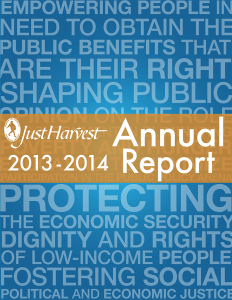 Just Harvest 2013-14 Annual Report cover