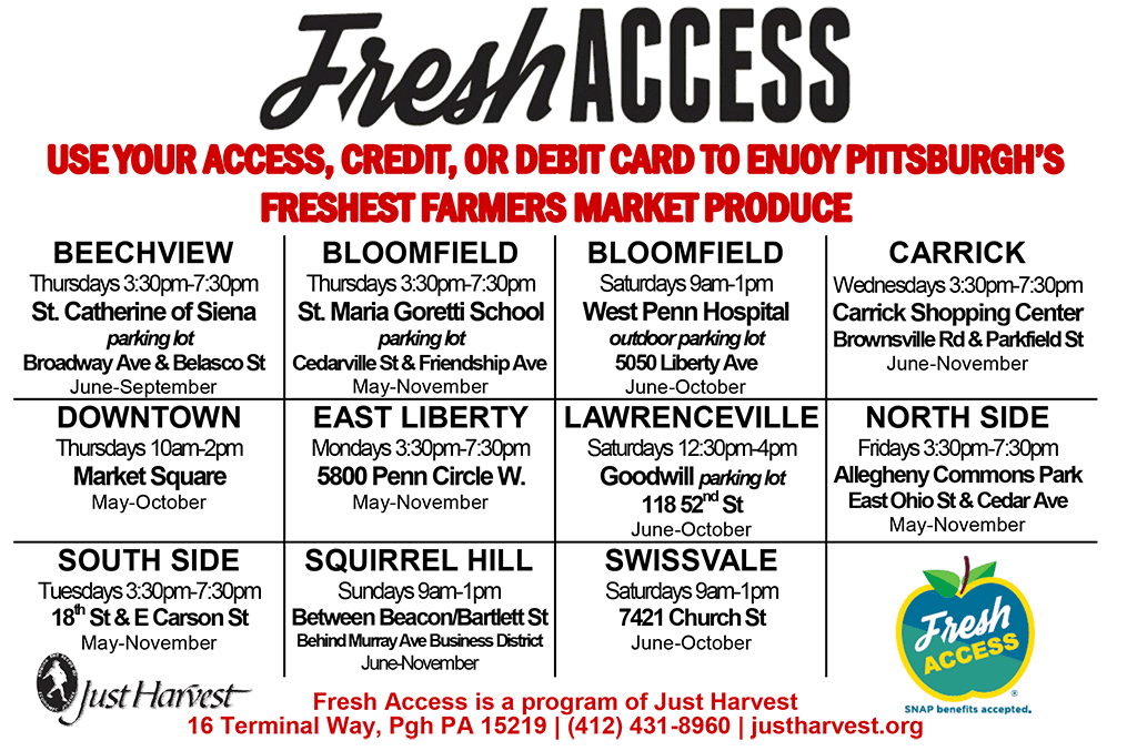 Fresh Access locations