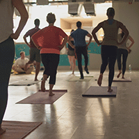 Organically Social yoga class