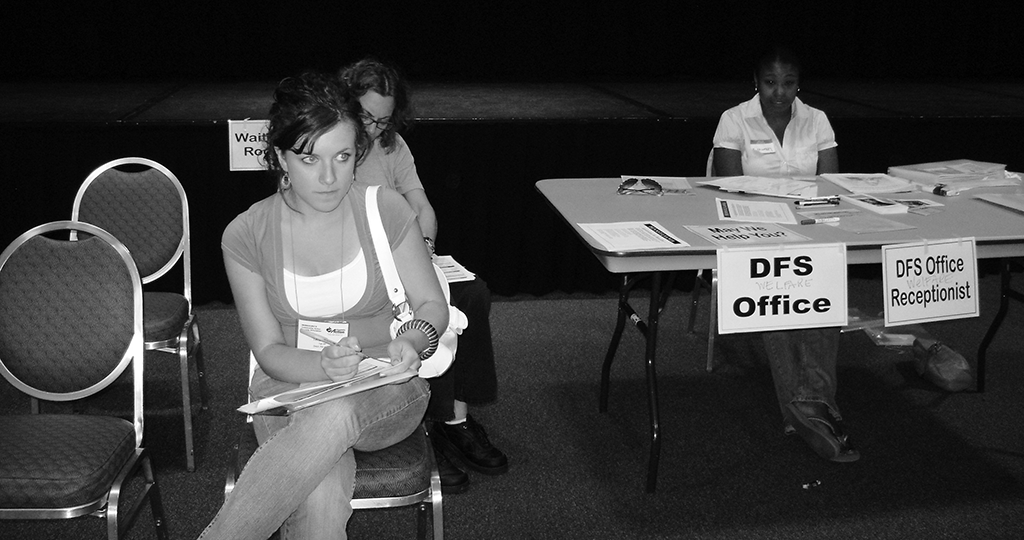 participants at a 2008 poverty simulation