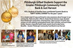 Pittsburgh Gifted Students Support Greater Pittsburgh Community Food Bank & Just Harvest