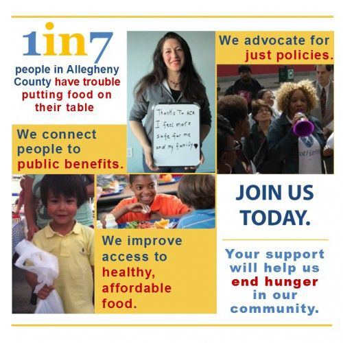 1 in 7 people in Allegheny County have trouble putting food on their table.