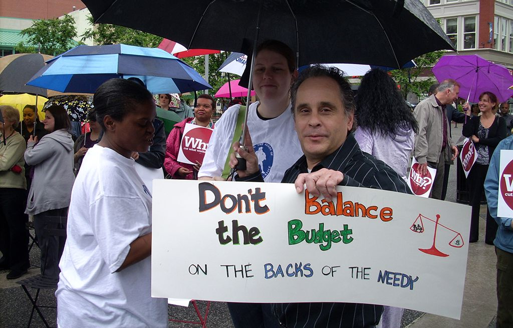 Don't balance the budget on the backs of the needy - rally