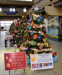 Pittsburgh International Airport Holiday Trees