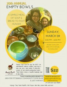 20th Annual Empty Bowls Flyer