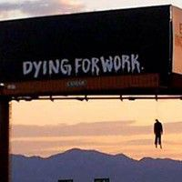 Dying for work in Las Vegas billboard