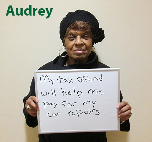 Audrey, one of our 2014 tax clients