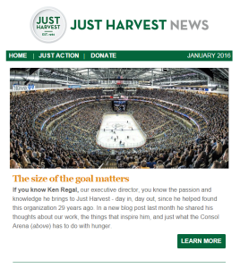 Just Harvest's Jan. 2016 e-newsletter