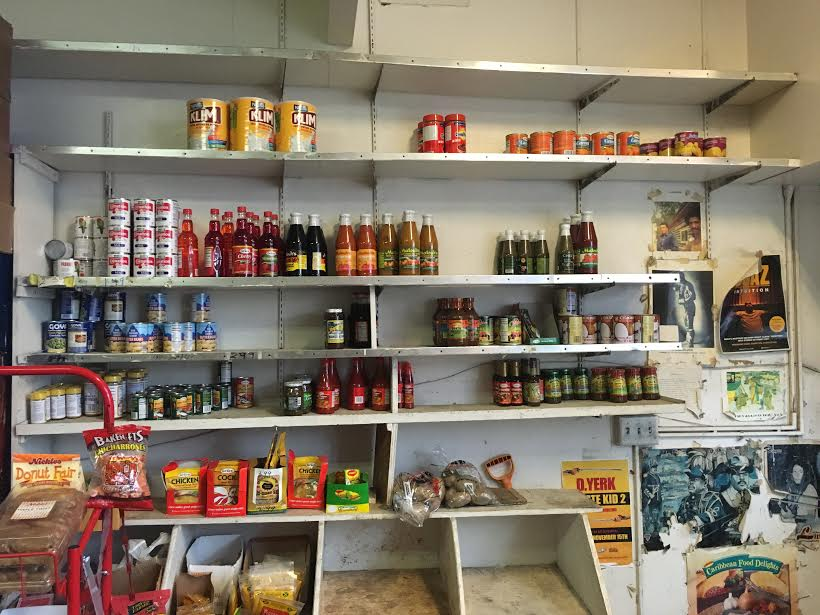 the inside of a corner store