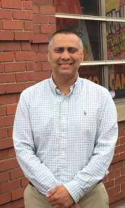 Bashir Akhter in front of his McKees Rocks store
