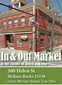 In & Out Market is a Fresh Corners corner store providing healthy food access at 300 Helen St.