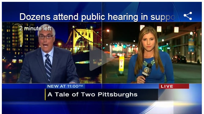 "WPXI news clip ""Dozens attend public hearing in support of Housing Opportunity Fund"""