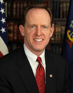 Official portrait of United States Senator Pat Toomey.