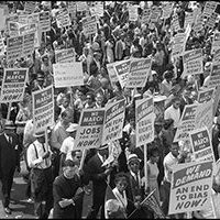 Demonstrators during the 1963 March for Jobs and Freedom | Wikimedia Commons