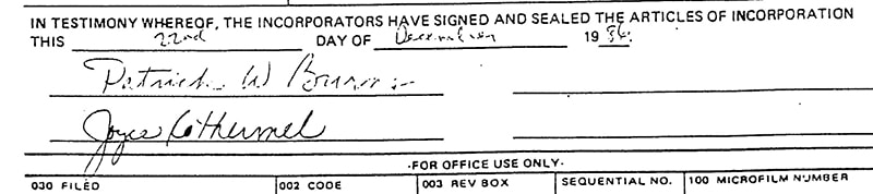 Our Dec. 22, 1986 articles of incorporation!