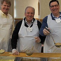 Rich Fitzgerald, Mike Doyle, Bill Peduto at Empty Bowls 2015