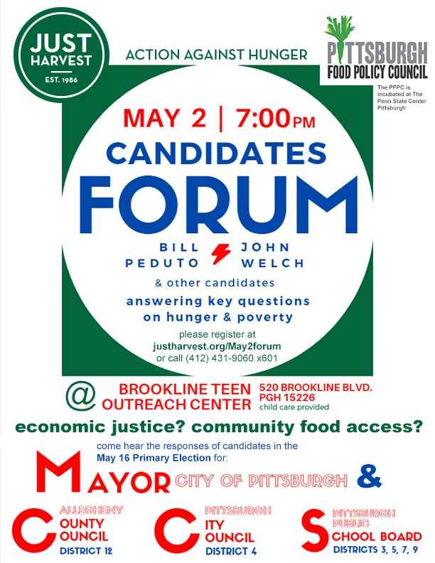 Flyer for May 2 forum