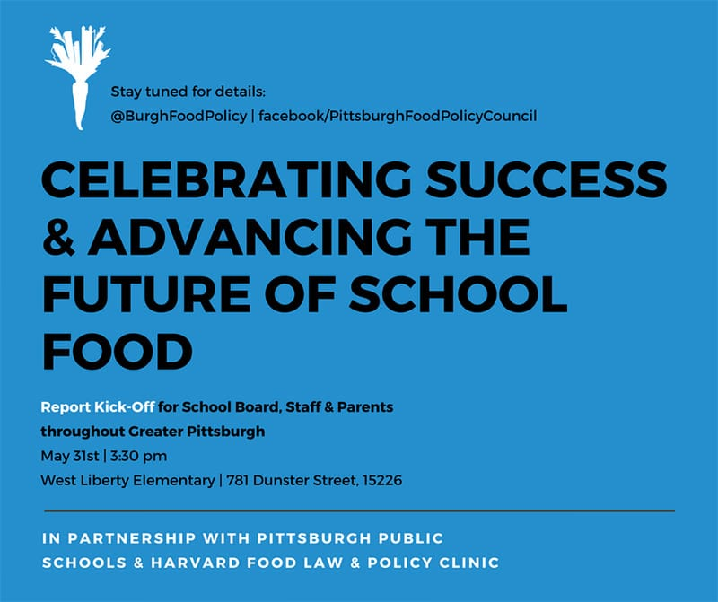Pittsburgh Food Policy Council school report kick-off