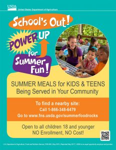 USDA Summer Food Service Program flyer
