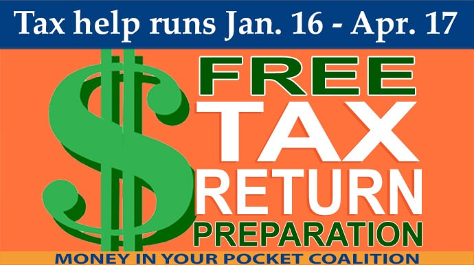 Just Harvest Free Tax Return Preparation runs Jan. 16-Apr.17