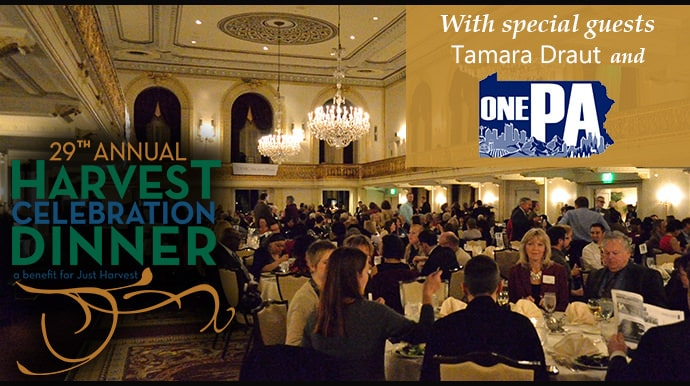 29th Annual Harvest Celebration Dinner with special guests Tamara Draut and One PA