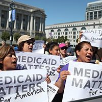Medicaid Matters protesters (Getty/John Sullivan)