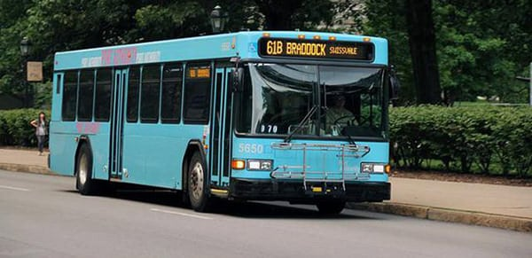 61 B bus to Braddock