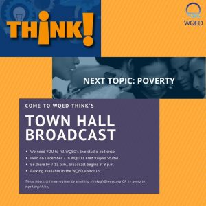 Think! Poverty Town Hall Broadcast on Dec. &