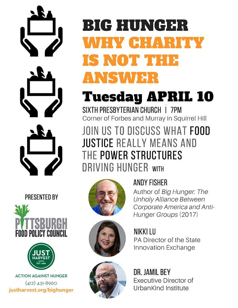 Big Hunger: Why Charity is Not the Answer event flyer