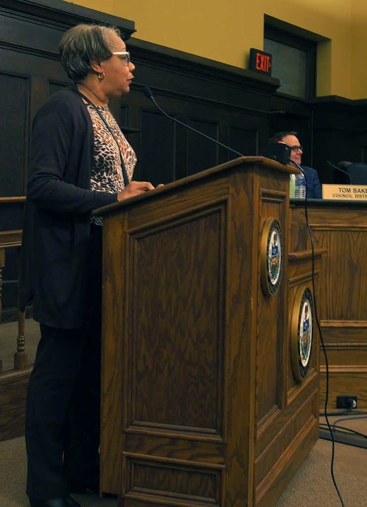 Pearl Hughey at the Mar. 6 Allegheny County Council meeting