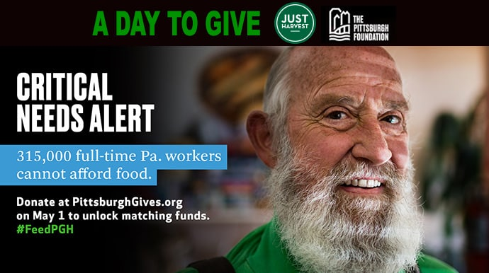 Pittsburgh Foundation May 1 Critical Needs Alert - donate at pittsburghgives.org