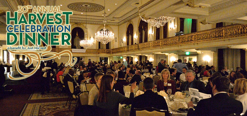 Attendees in the Omni William Penn Hotel ballroom at our Annual Harvest Celebration Dinner