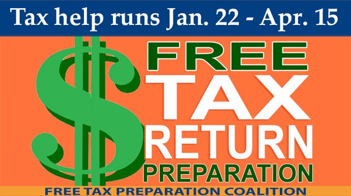 Just Harvest Free Tax Return Preparation runs Jan. 22-Apr. 15