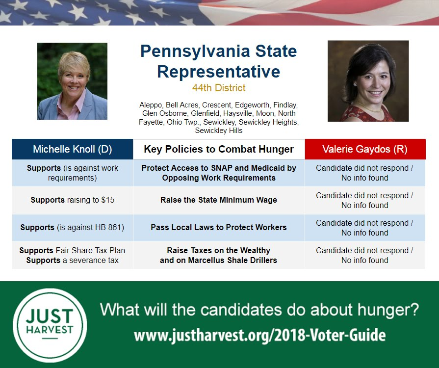 Where Michelle Knoll and Valerie Gaydos stand on 5 key policies to combat hunger in the race for the PA 44th House District