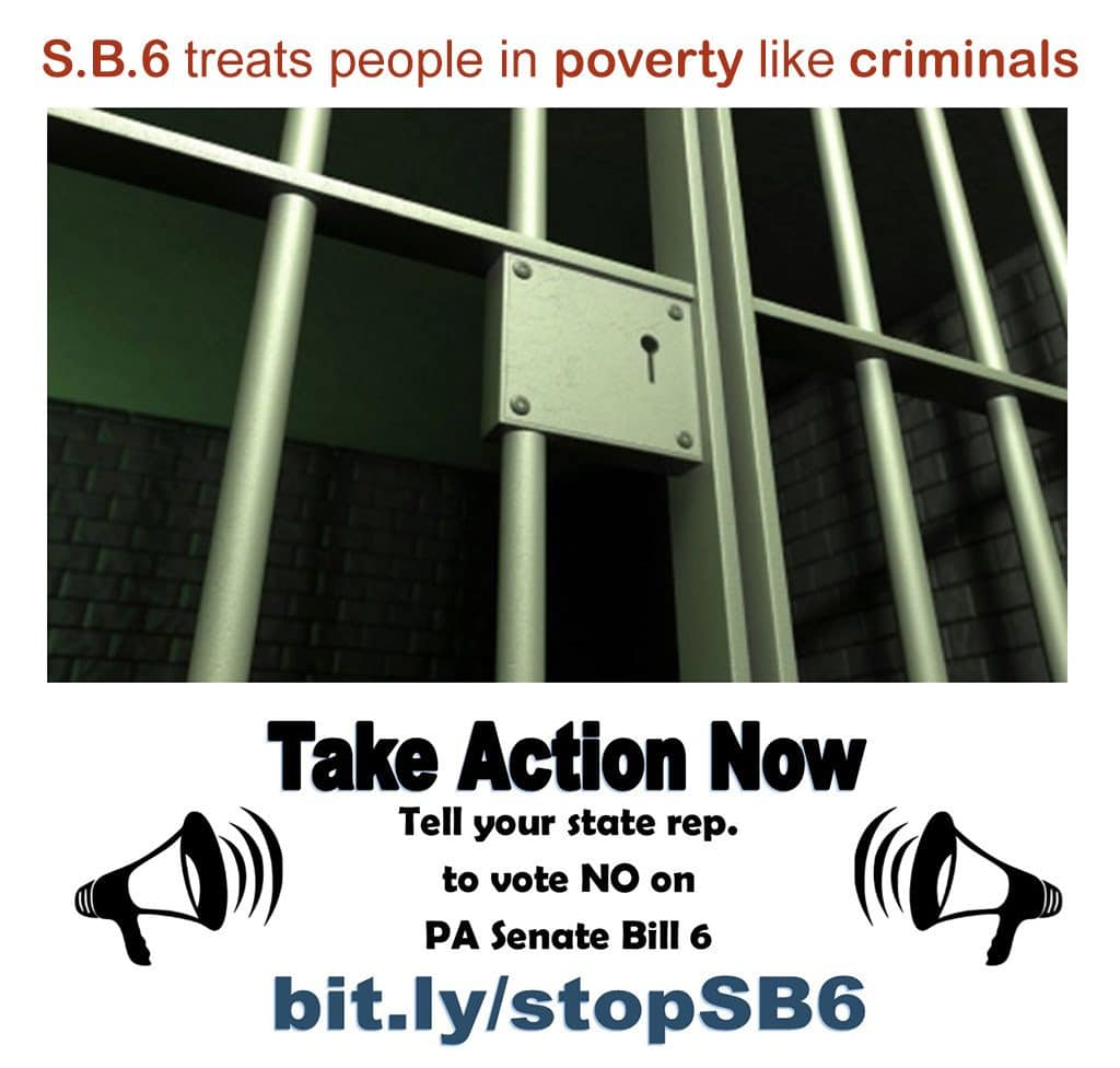Take Action Now - Tell your state rep. to vote NO on PA Senate Bill 6