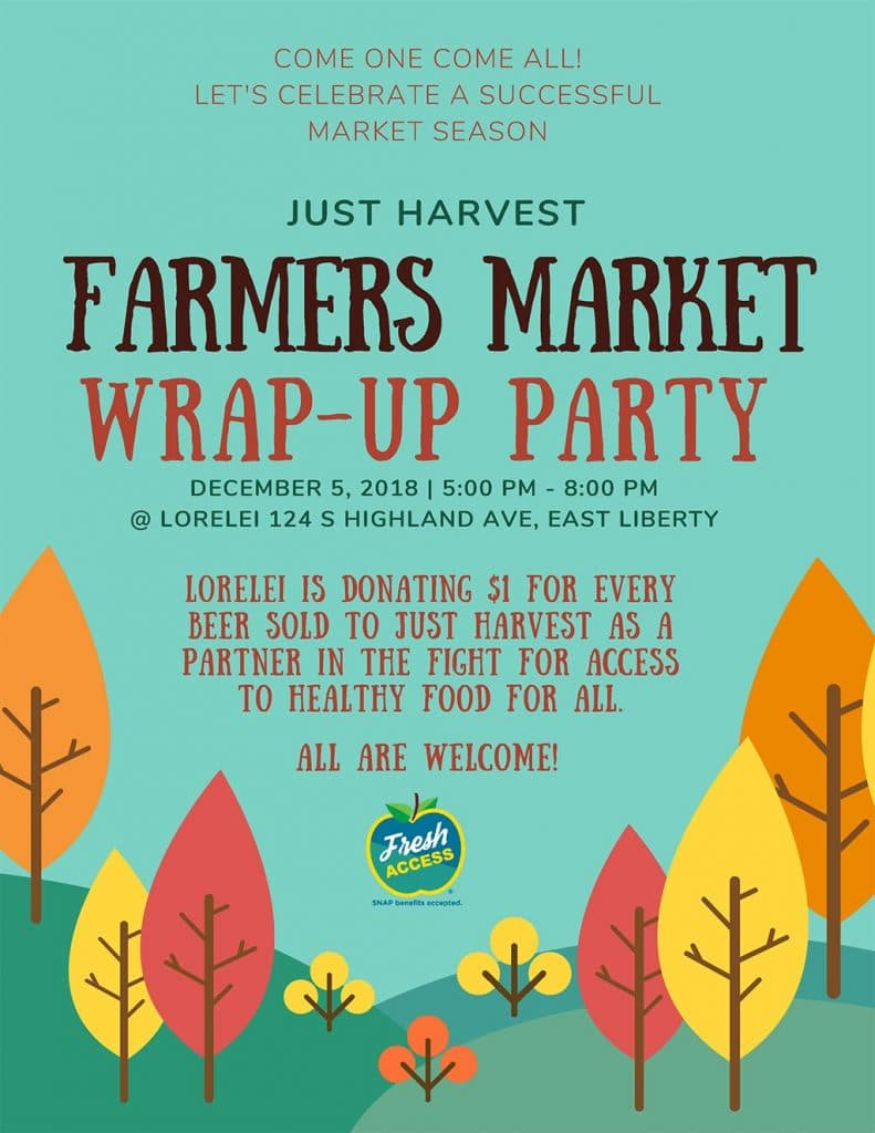 Farmers Market Wrap-Up Party flyer