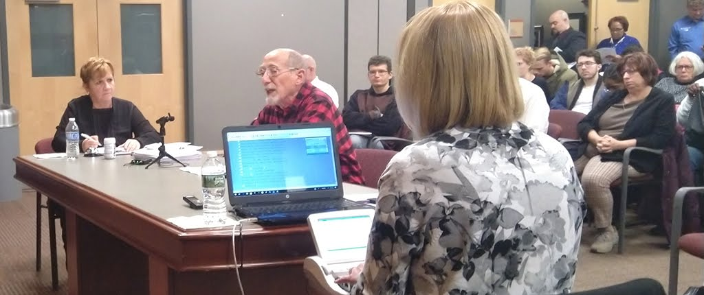 Mel Packer gives his testimony in support of fair fares at the Dec. 7 2018 Port Authority of Allegheny Council Board meeting