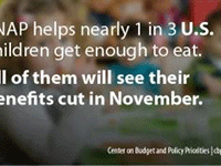 SNAP helps nearly 1 in 3 U.S. children get enough to eat. All of them will see their benefits cut in November,