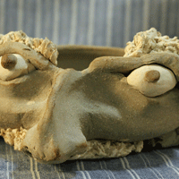 Clay face bowl by Jesse Sharrard