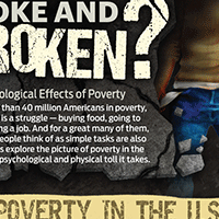 Broke and broken - poverty in the U.S. infographic
