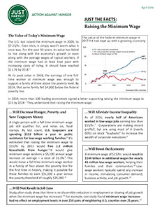 Raising the Minimum Wage - a Just Harvest fact sheet