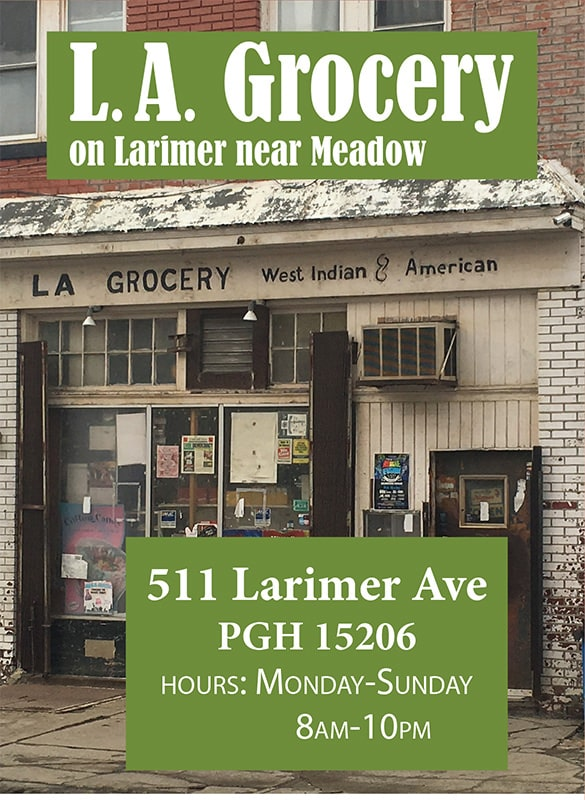 L.A. Grocery is a Fresh Corners corner store, providing healthy food access at 511 Larimer Ave