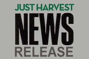 Just Harvest news release