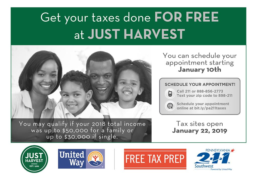 Free Tax Return Preparation - United Way Partner